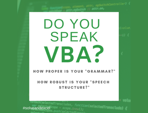 Do you speak VBA-ish?